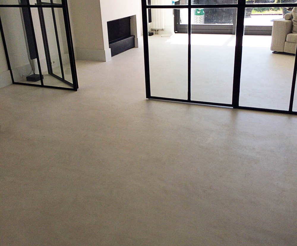 Gespaande Beton Ciré of Mortex vloer | Orign Design